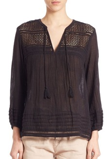 Joie Alamanor Crochet Cotton Blouse