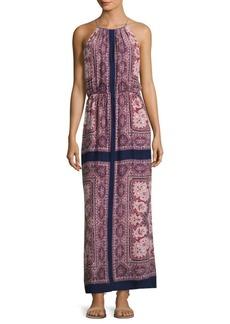 Joie Alandra Border-Print Silk Maxi Dress