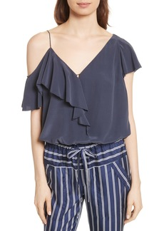 Joie Alcyoneus Off the Shoulder Silk Top