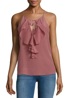 Joie Alipha Ruffle Silk Top