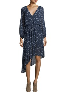 Joie Alithea Asymmetric Printed Silk Dress