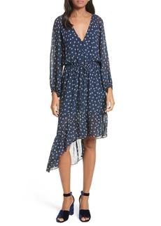 Joie Alithea Print Silk Asymmetrical Dress