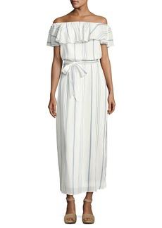 Joie Almante Striped Cotton Maxi Dress