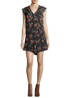 Joie Almarie B V-Neck Silk Shift Dress