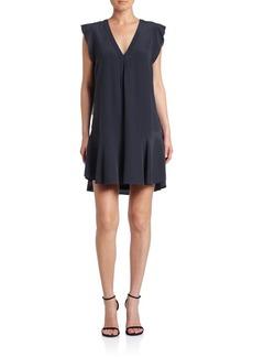 Joie Almarie Silk Ruffle Trim Dress