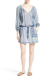 Joie Almee Print Cotton Blouson Dress