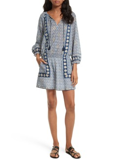 Joie Almee Print Cotton Blouson Dress
