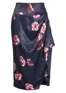 Joie Alphina Floral Faux Wrap Skirt