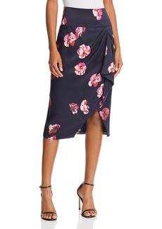 Joie Alphina Floral Silk Skirt