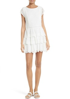 Joie Altha Eyelet Silk Dress