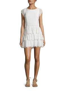 Joie Altha Patchwork Eyelet Silk Dress
