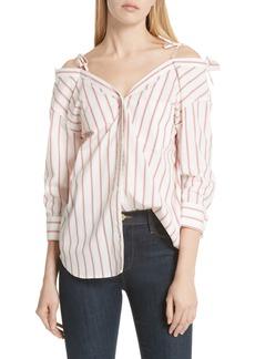 Joie Alvina Tie Front Stripe Shirt
