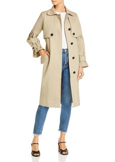 Joie Alwena Puff-Sleeve Cotton Trench Coat - 100% Exclusive