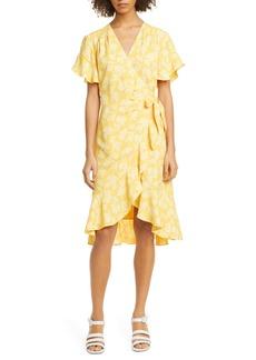 Joie Amelian Floral Print Wrap Dress