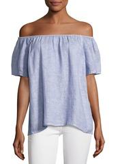 Joie Amesti B Off-The-Shoulder Linen Top