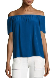 Joie Amesti B Silk Off-The-Shoulder Blouse