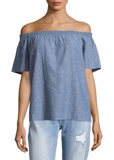 Joie Amesti Denim Off Shoulder Top