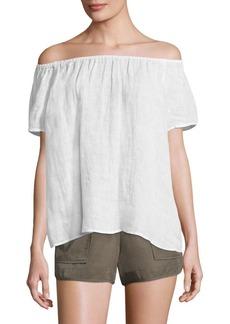 Joie Amesti Off-The-Shoulder Linen Top