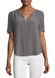 Joie Amone Short-Sleeve Crepe Top