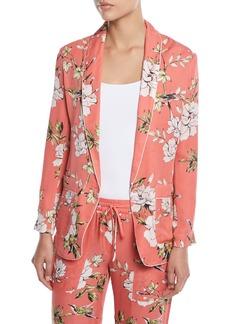 Joie Anasophia Floral-Print Silk Jacket