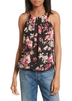 Joie Anatase C Floral Print Sleeveless Silk Top