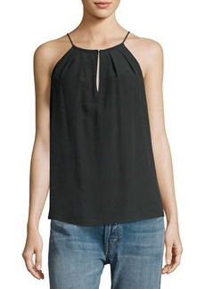 Joie Anatase Silk Pleated-Yoke Top