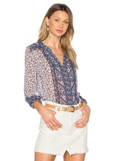 Joie Andala Blouse in Blue. - size L (also in M,S,XS)