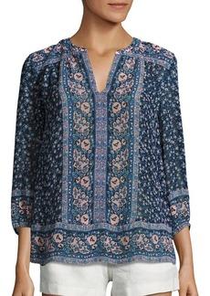 Joie Andala Floral-Print Silk Blouse