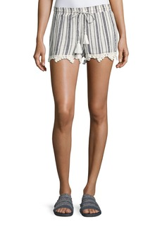 Joie Angelle Striped Tassel Drawstring Shorts