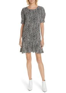 Joie Angeni Leopard Print Puff Sleeve Dress