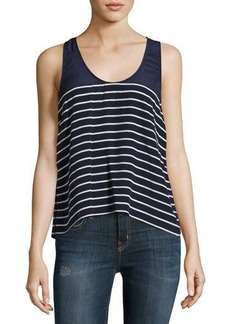 Joie Angola Striped Silk Tank Top