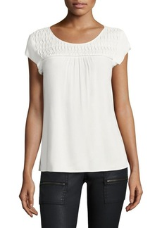 Joie Annis Pintuck Blouse