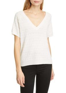 Joie Anoushka Short Sleeve Merino Wool Sweater