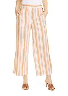 Joie Ardina Crop Wide-Leg Linen Pants