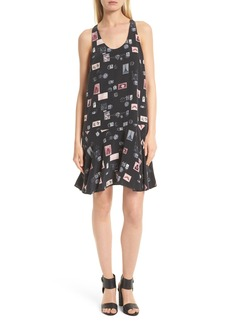 Joie Arianna Drop Waist Print Silk Dress