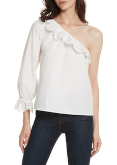 Joie Arianthe One-Shoulder Eyelet Top