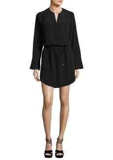 Joie Arjun Bell-Sleeve Silk Dress