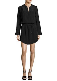 Joie Arjun Bell-Sleeve Silk Dress