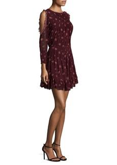Arleth Cold-Shoulder Silk Dress