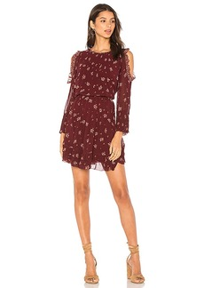 Joie Arleth Dress in Burgundy. - size L (also in M,S)