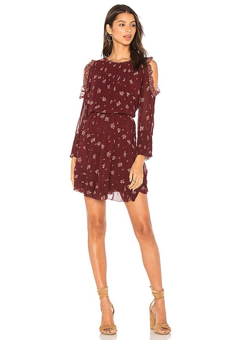 Joie Arleth Dress in Burgundy. - size L (also in M,S)
