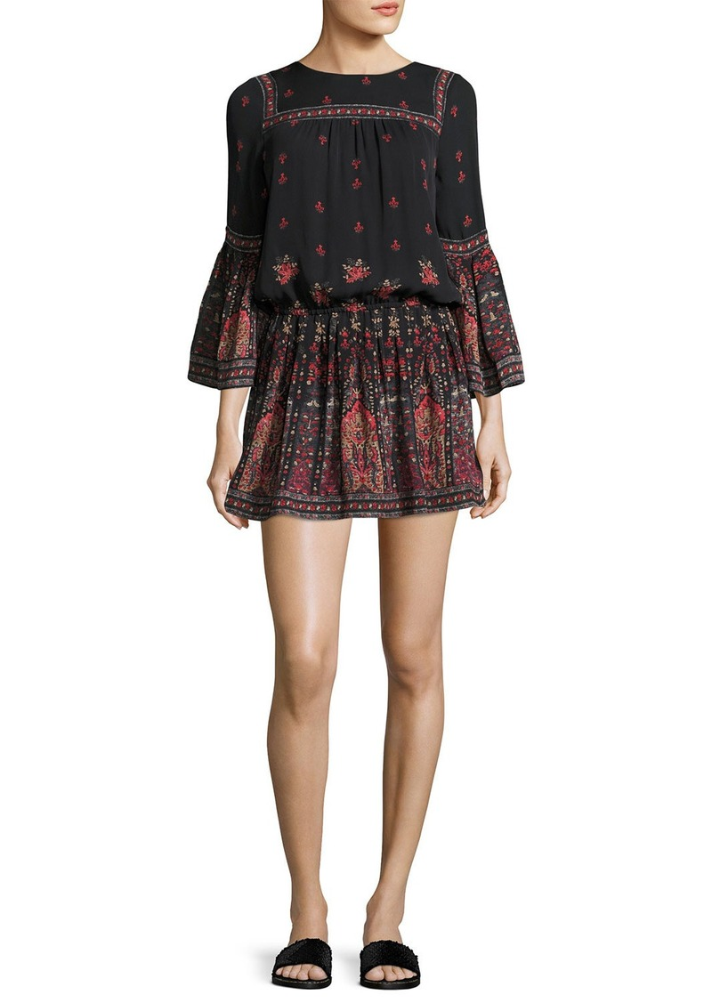 Joie Armel Floral-Print Long-Sleeve Dress