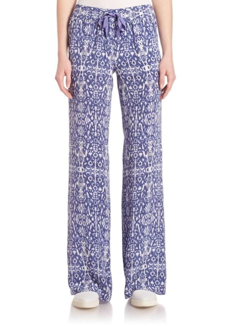 Joie Arryn Ikat-Print Silk Pants