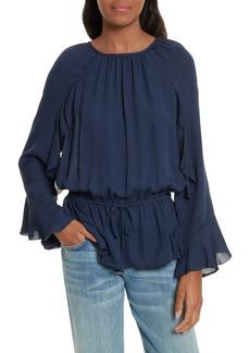 Joie Arthurine Bell Sleeve Silk Top