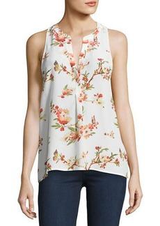 Joie Aruna Floral-Print Silk Top