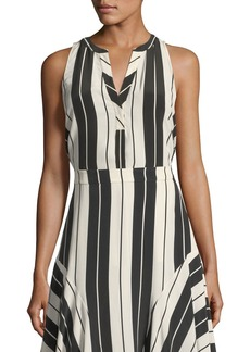 Joie Aruna Sleeveless Striped Silk Top