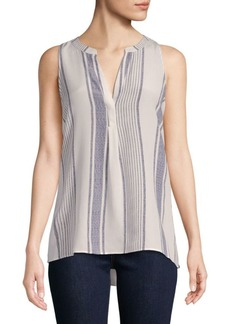 Joie Aruna Striped Silk Tank Top