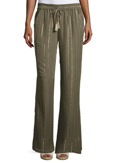 Aryn Drawstring Tassel Silk Pants