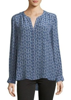 Joie Audrick Graphic-Print Silk Blouse