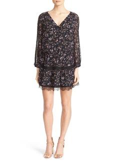 Joie Auggie Floral Silk Blouson Dress